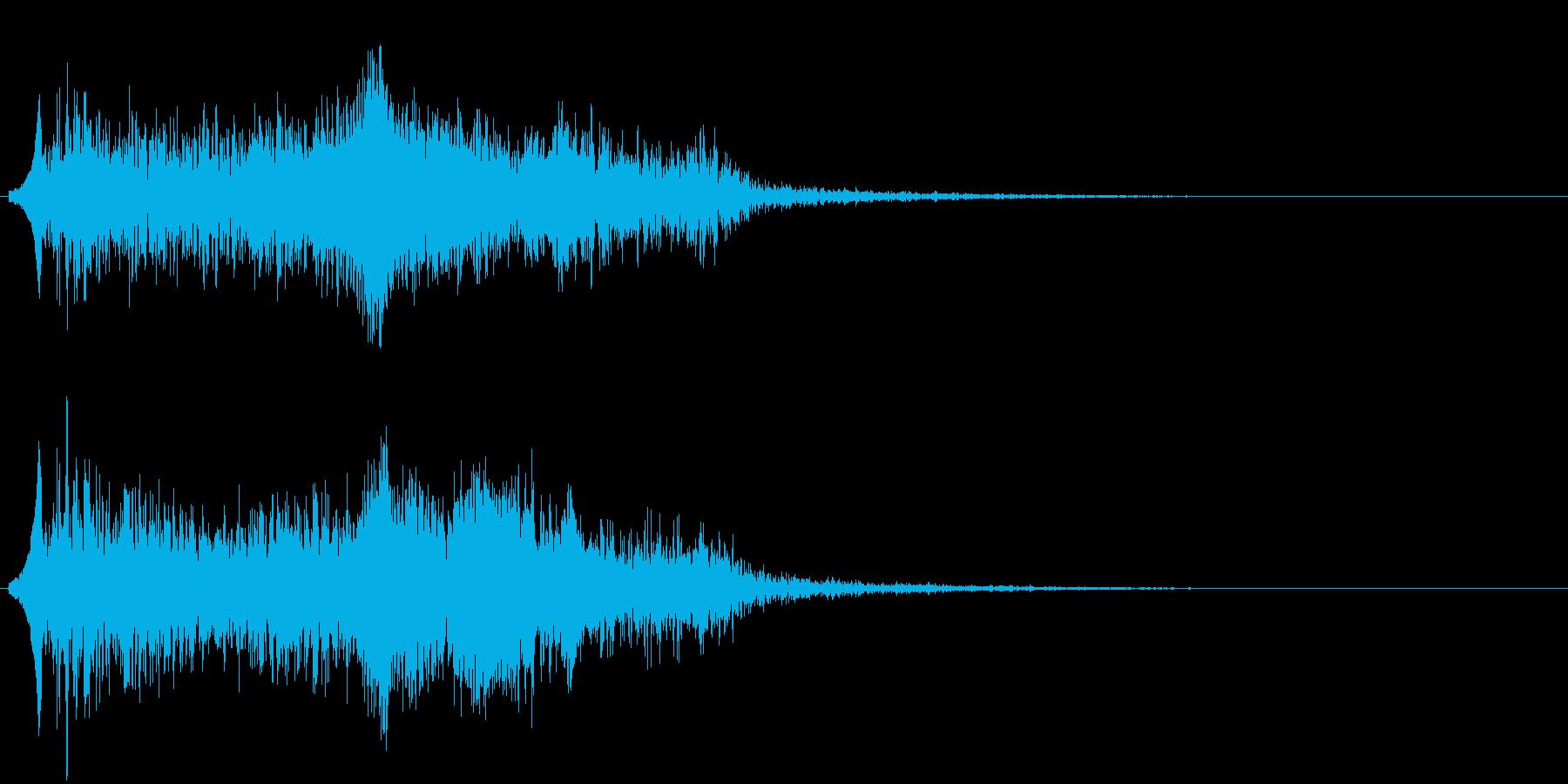 男性の悲鳴の再生済みの波形