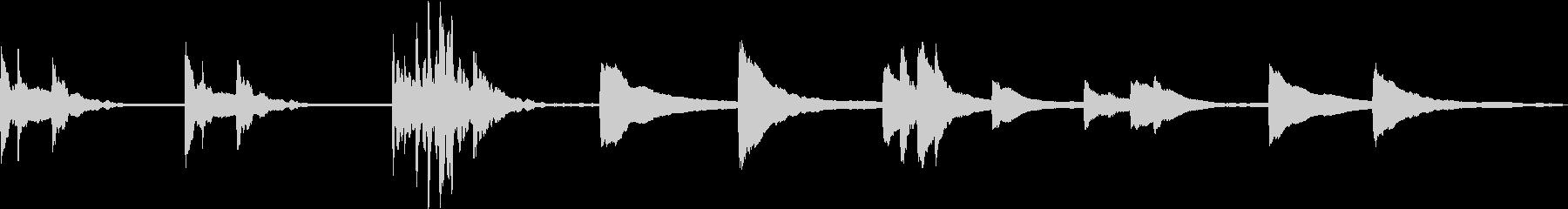 神秘・幻想的/ピアノソロループの未再生の波形