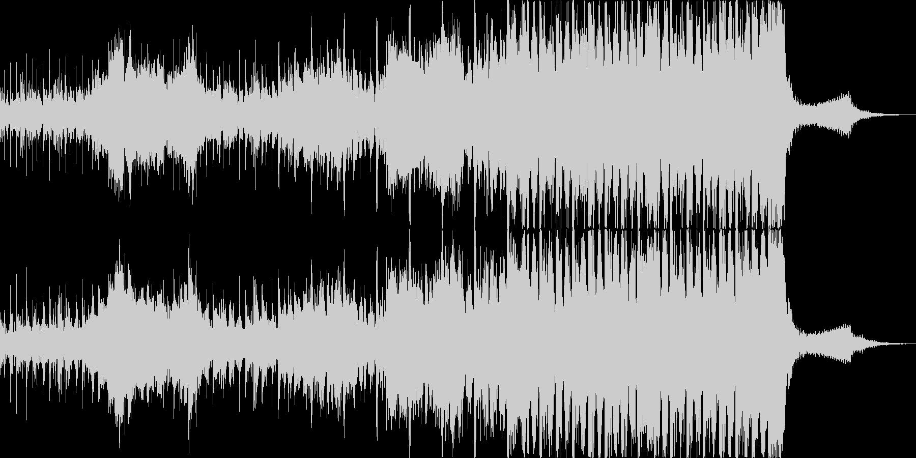 迫力のサイバー系映画トレーラーサウンドの未再生の波形