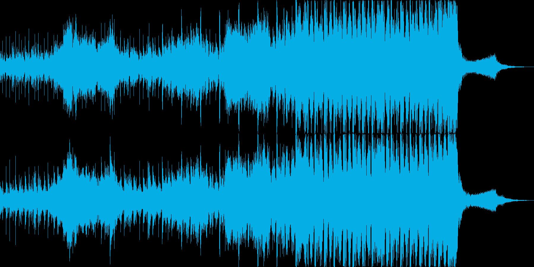 迫力のサイバー系映画トレーラーサウンドの再生済みの波形