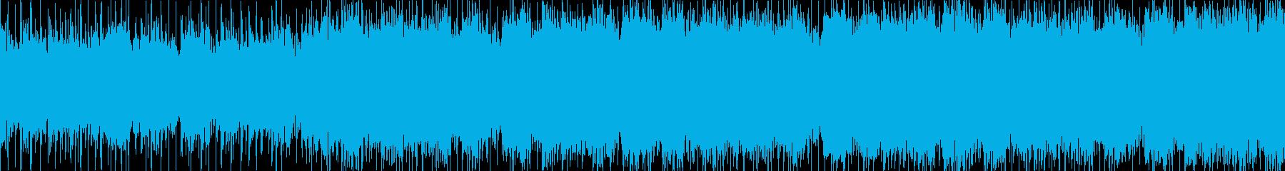 戦闘のスタンバイに入るオーケストラ楽曲の再生済みの波形