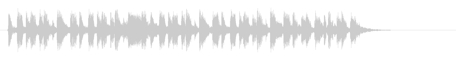 緩やかで滑らかなピアノジングルの未再生の波形
