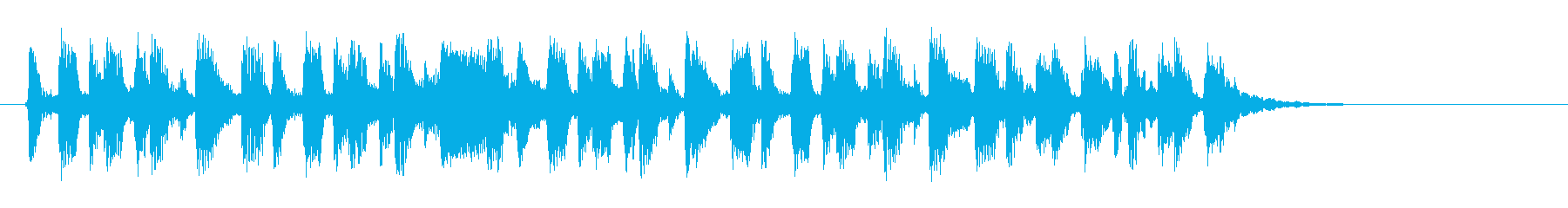 緩やかで滑らかなピアノジングルの再生済みの波形