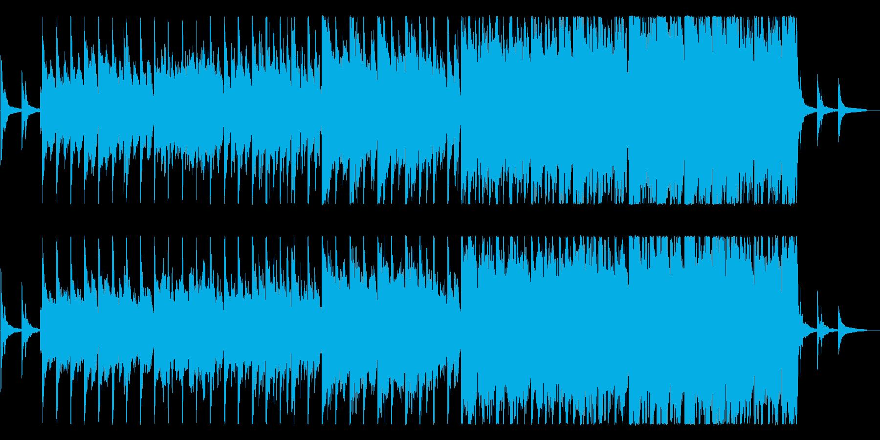 少し民族的な楽曲。孤高・芯の強さの表現等の再生済みの波形