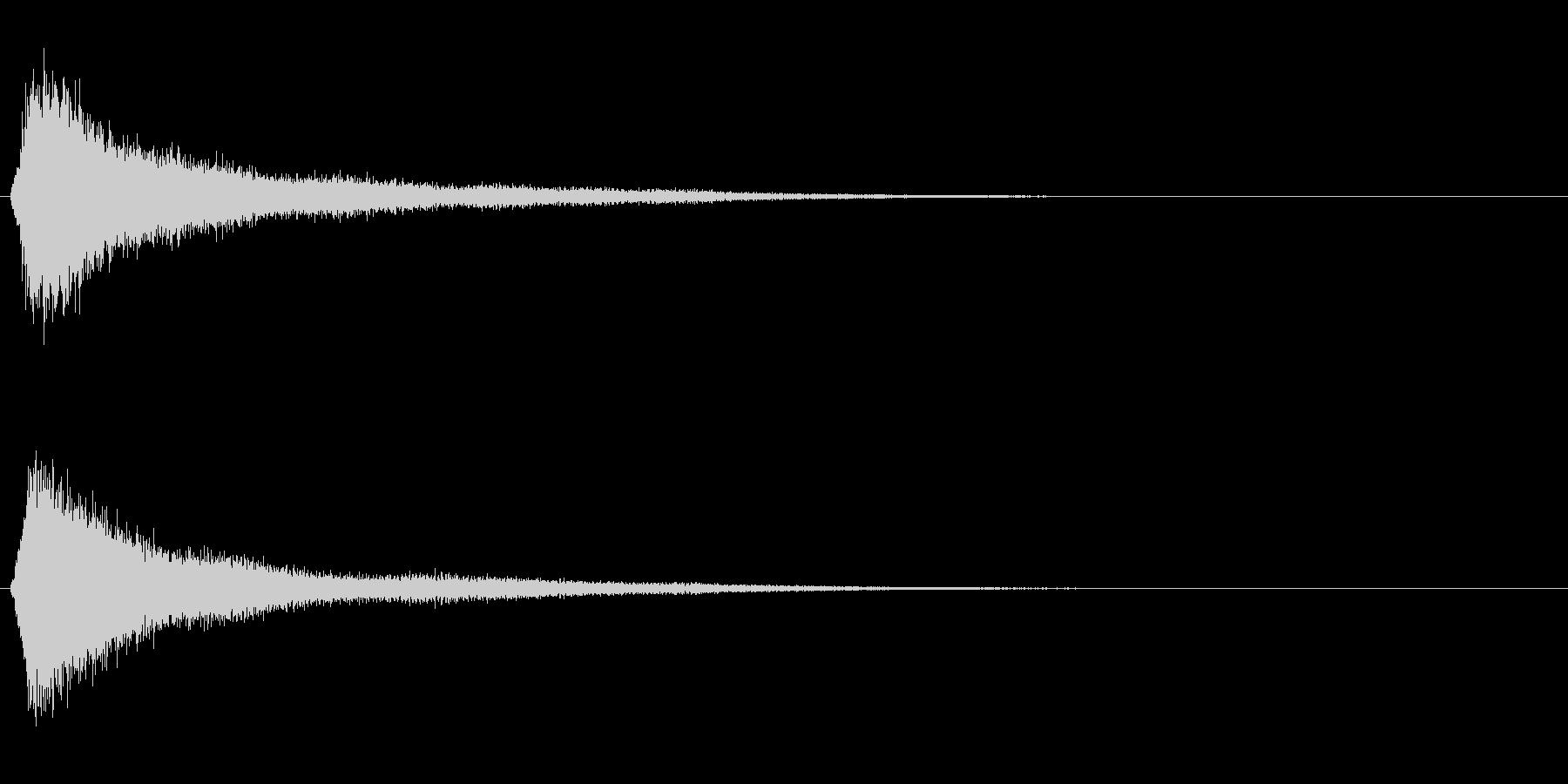 サスペンスに最適!ピアノの弦を弄ぶ音5の未再生の波形