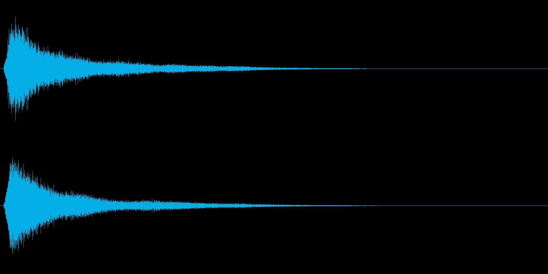 サスペンスに最適!ピアノの弦を弄ぶ音5の再生済みの波形