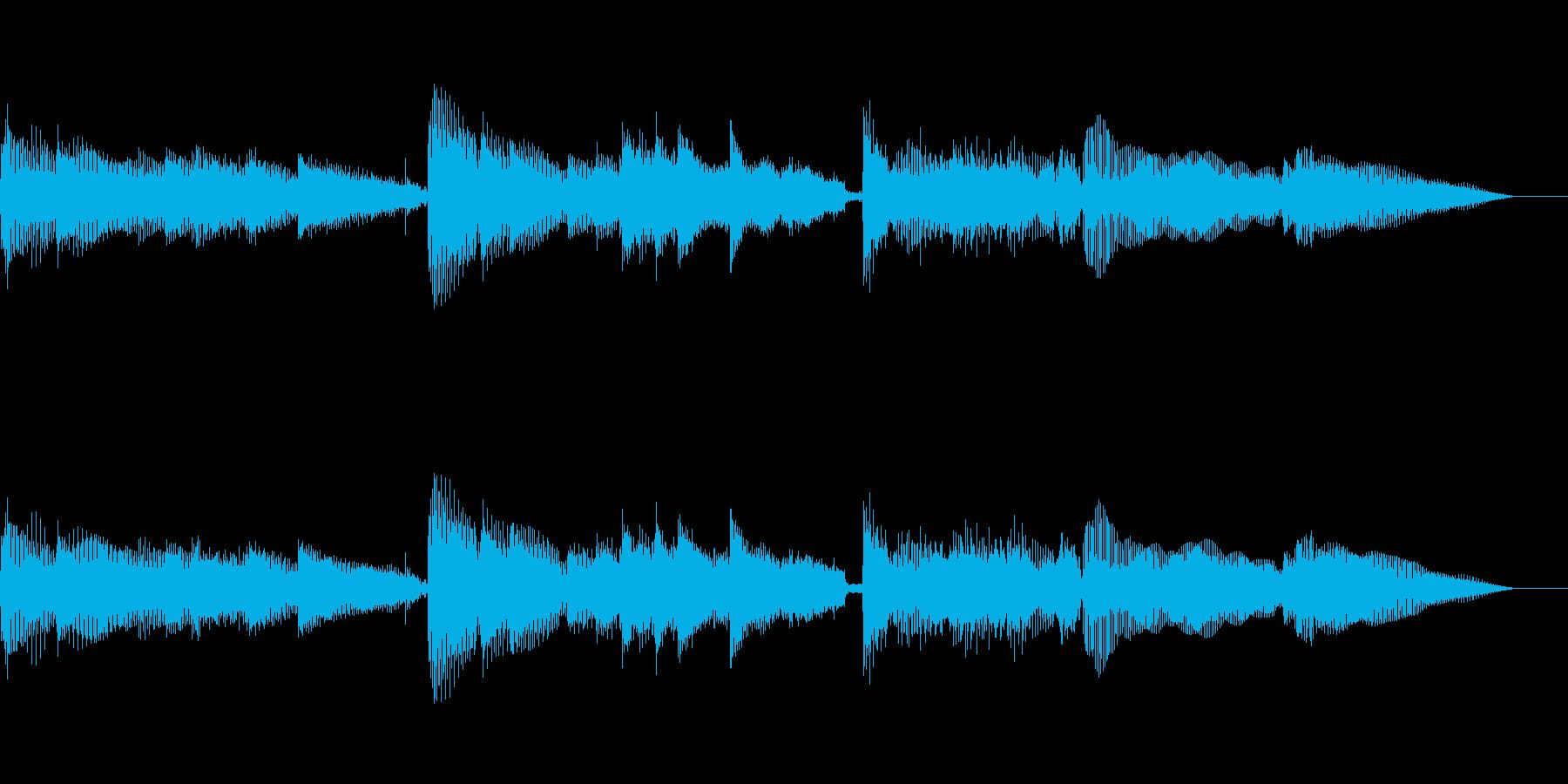 ゆったりとした雰囲気のBGMの再生済みの波形