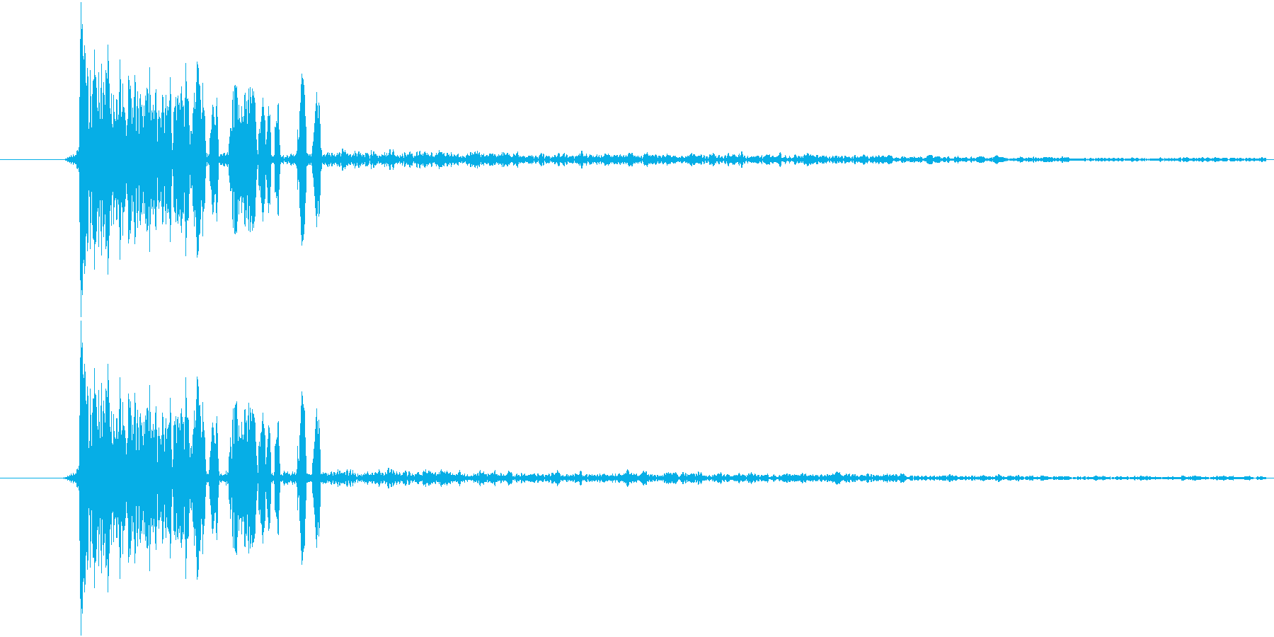 【空き缶/ポンッ/ポコッ】の再生済みの波形
