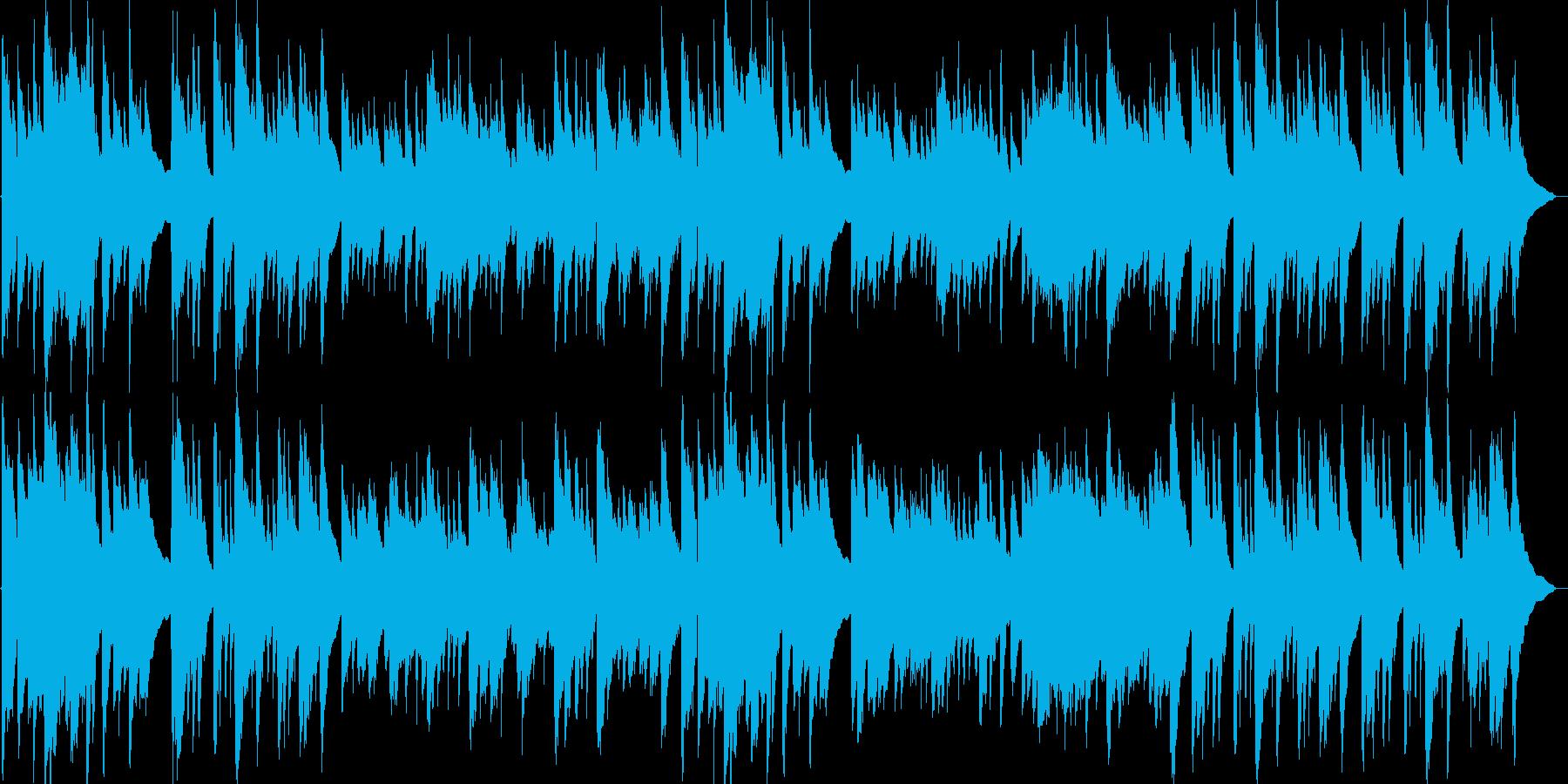 アコースティックギターほのぼのBGMの再生済みの波形