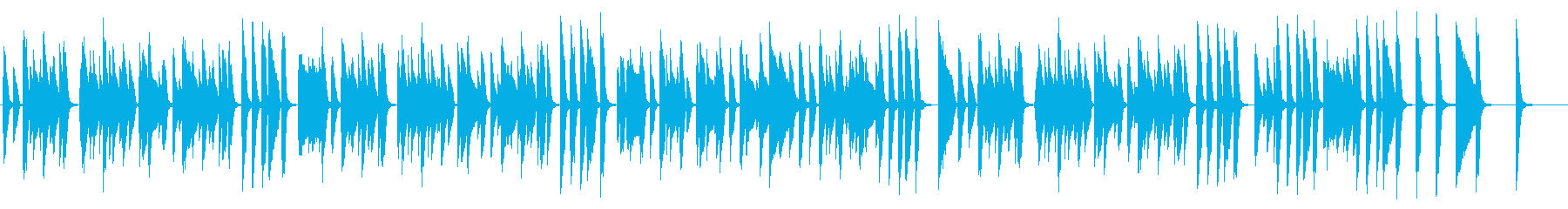 ほのぼの お気楽軽快ピアノ の再生済みの波形