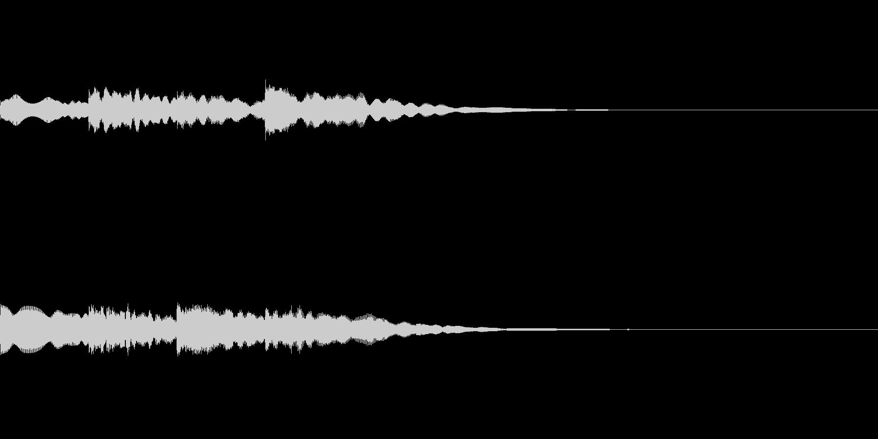 場面転換に使えるチャイムの効果音。の未再生の波形