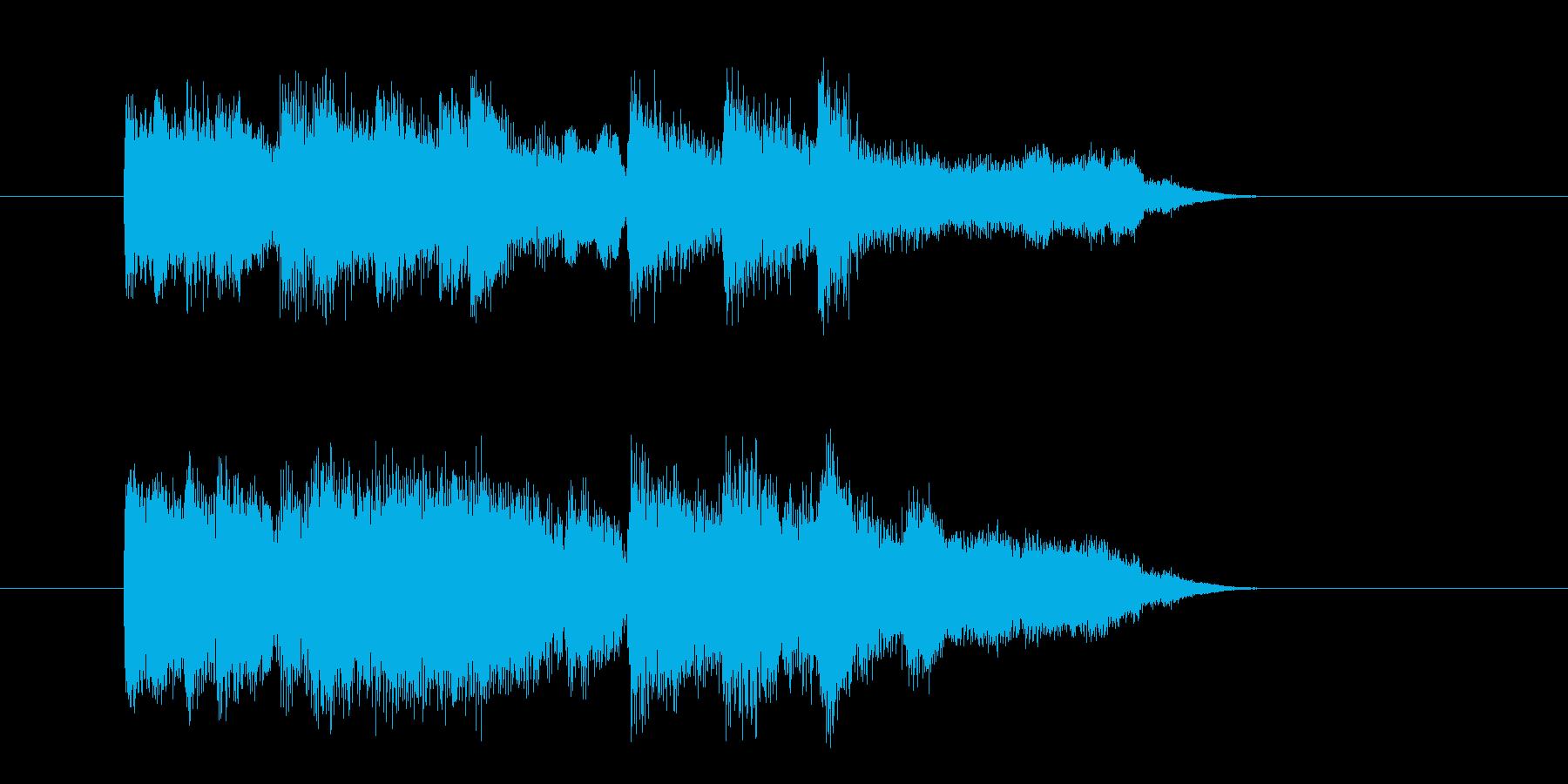 場面転換 穏やか テーマ 青空 上品の再生済みの波形