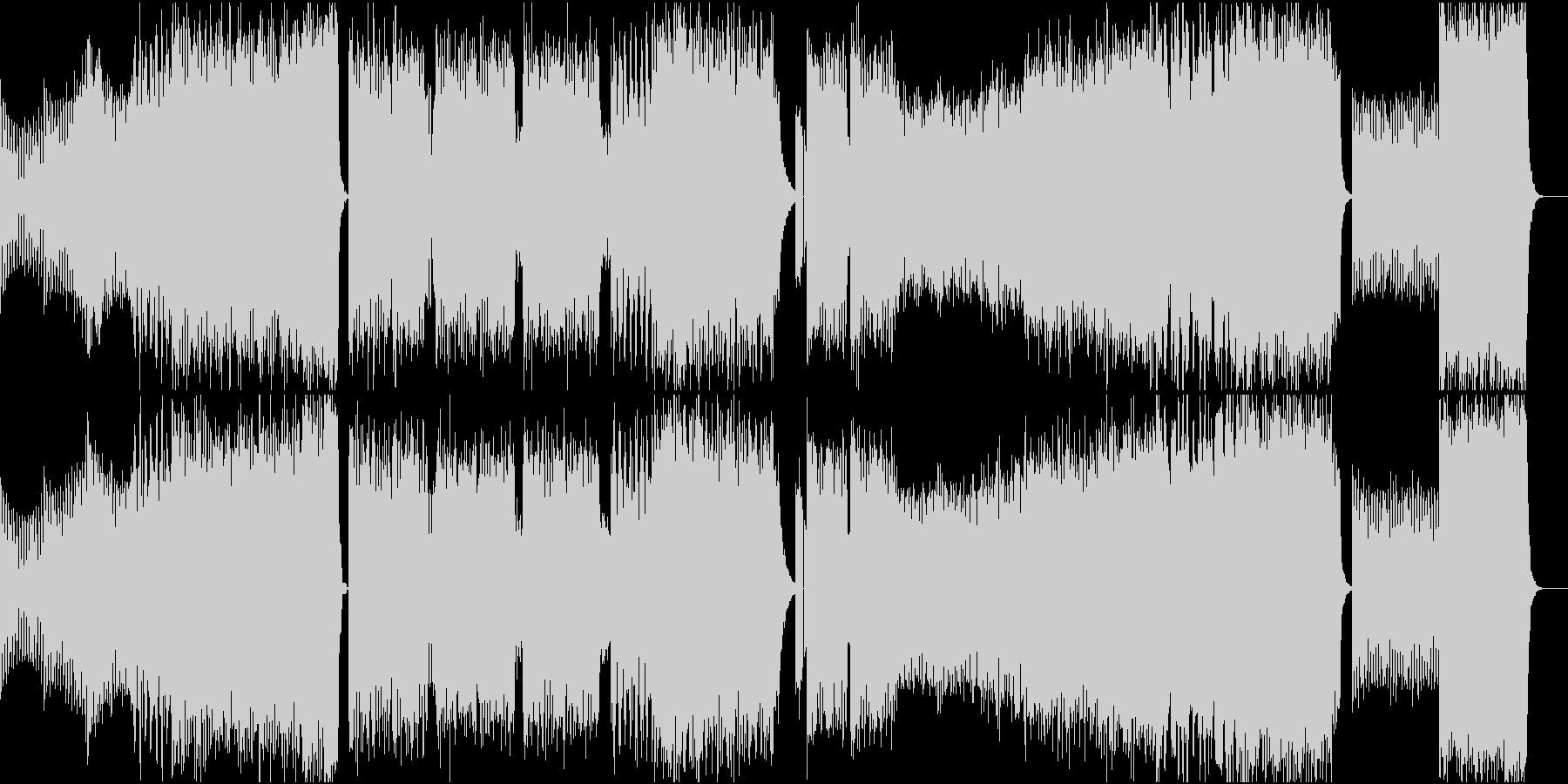 疾走感のあるエレクロサウンドの未再生の波形
