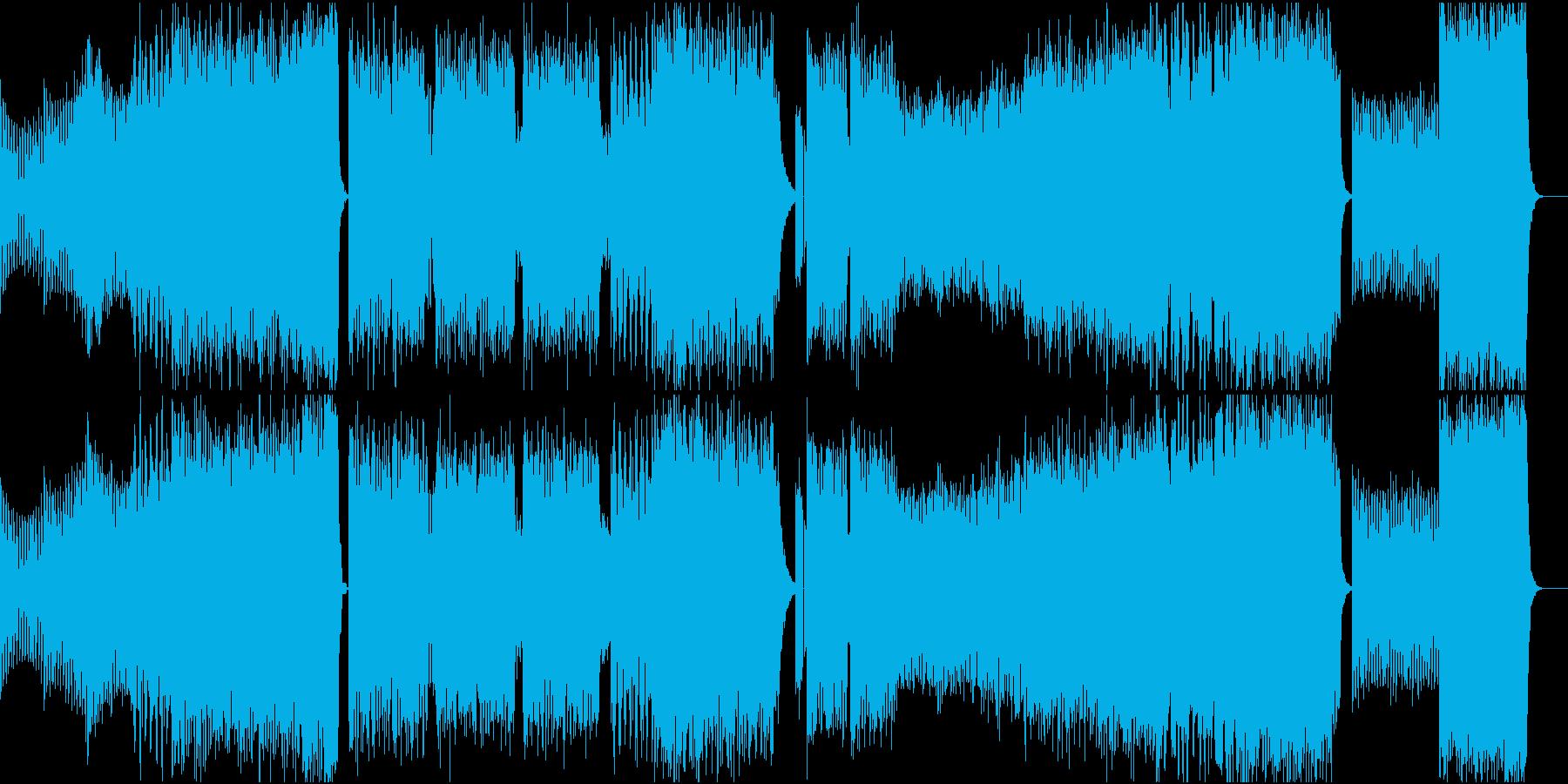 疾走感のあるエレクロサウンドの再生済みの波形
