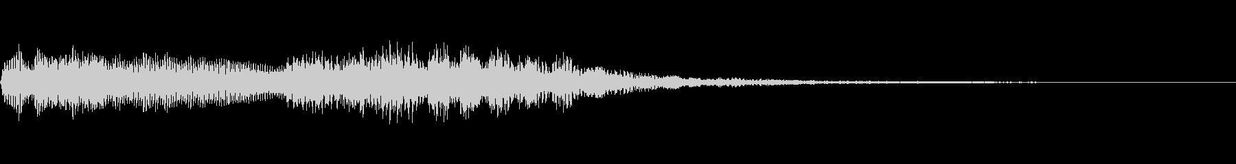 パイプオルガン~バッハのトッカータ後半~の未再生の波形