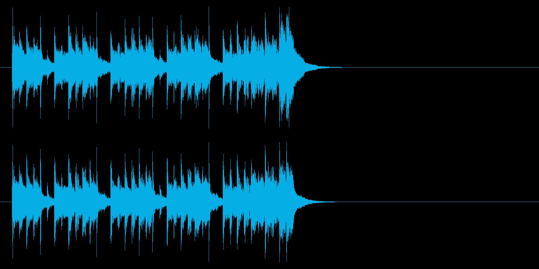 ジングル(クイズ解答記入タイム)の再生済みの波形