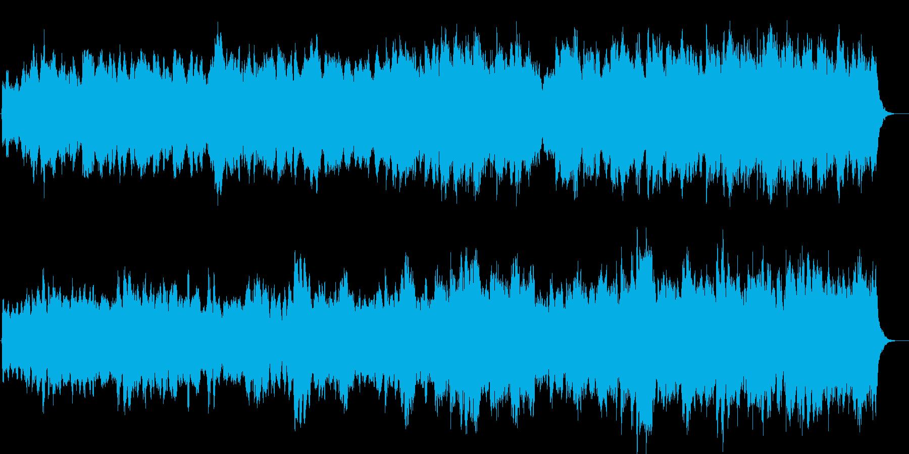 眠りに導く睡眠誘導のスローサウンドの再生済みの波形
