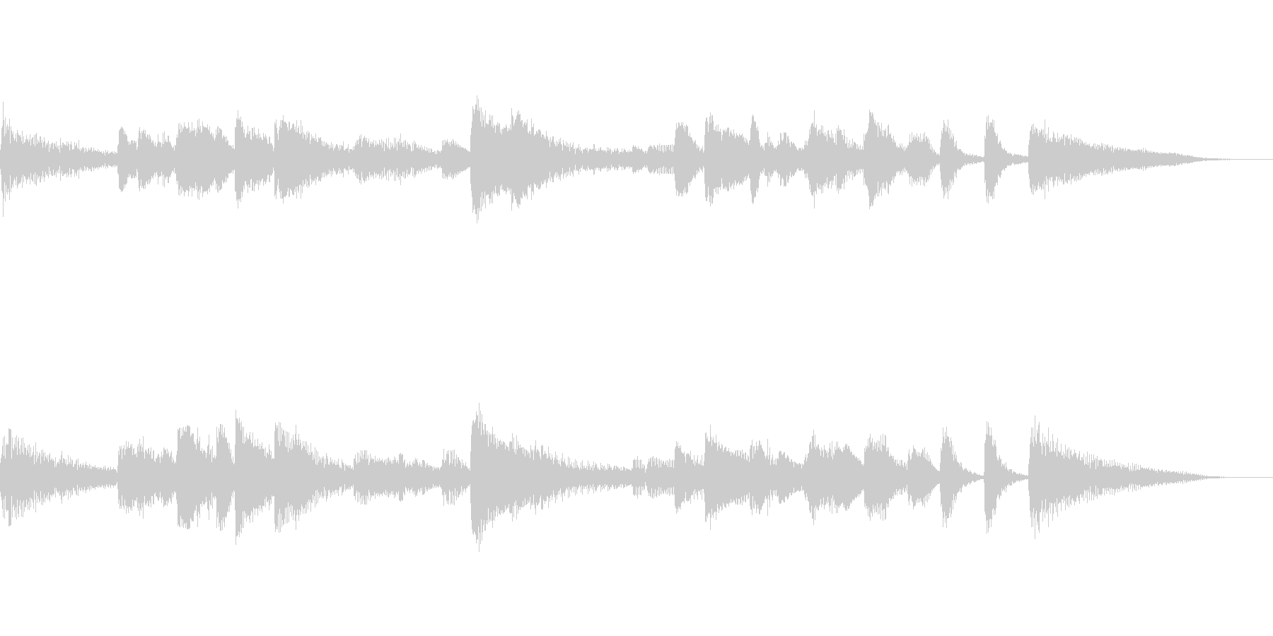 ラテン系ピアノソロサウンドの未再生の波形