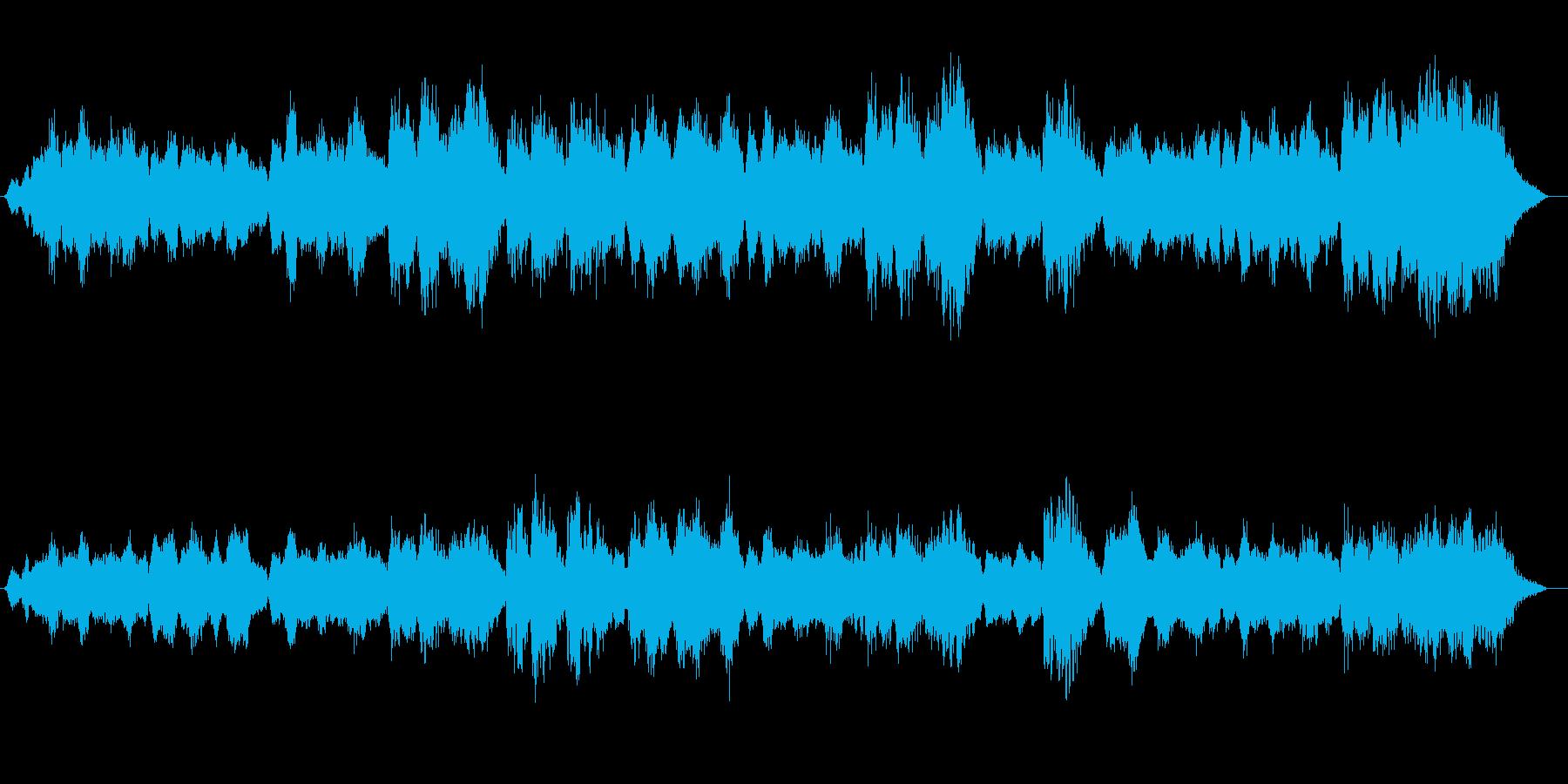さわやかなラベンダーの風薫る花畑の曲で…の再生済みの波形