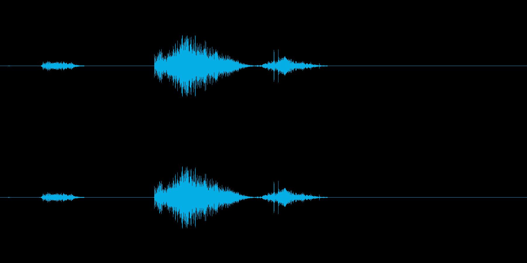 (くしゃみ)の再生済みの波形