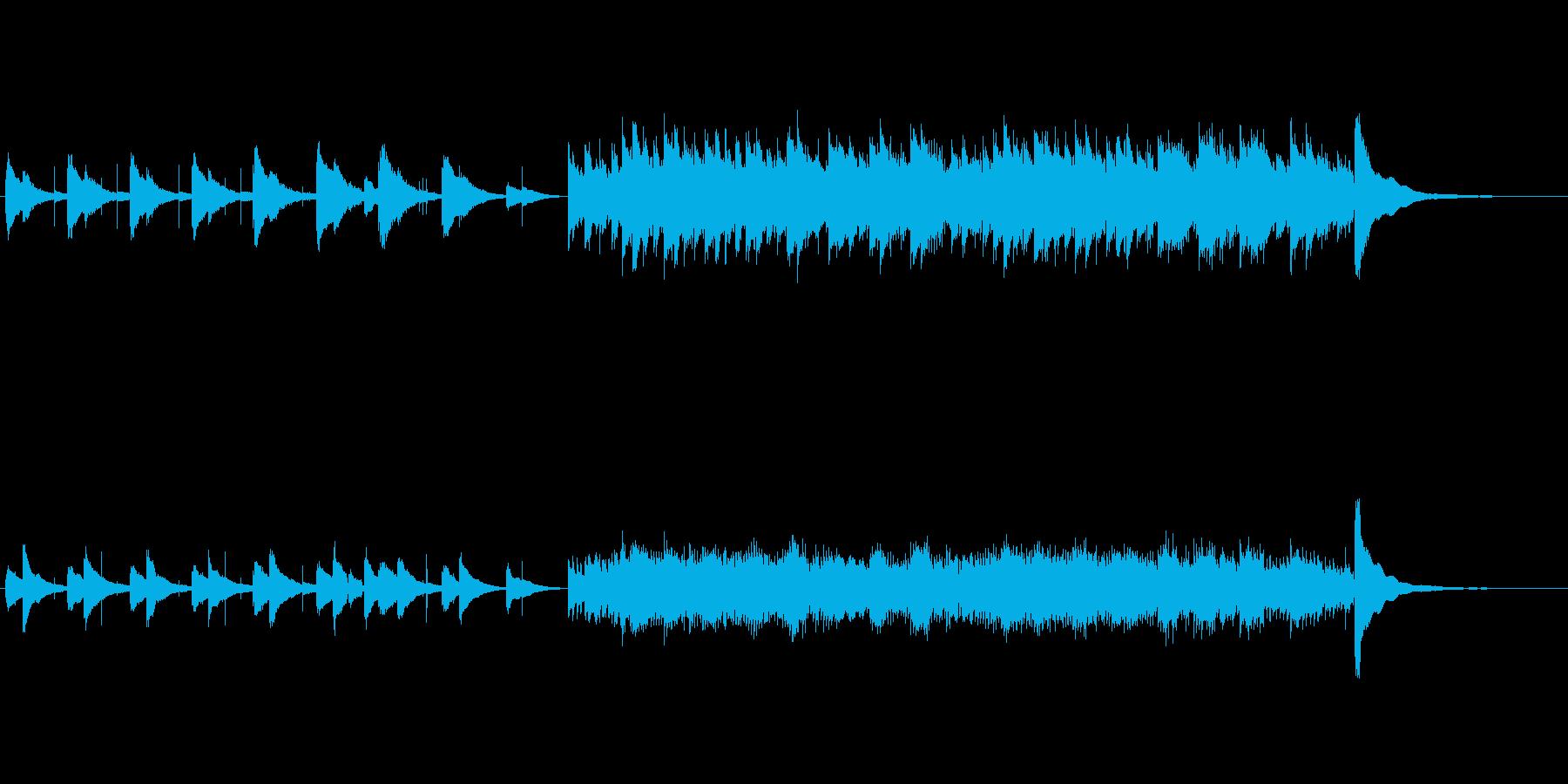 シンプルなアコースティック・ソロの再生済みの波形