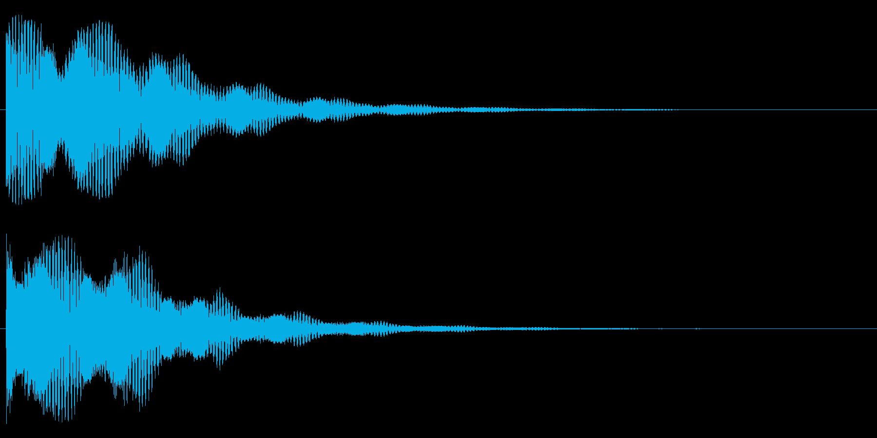 ドォーン(鐘系)の再生済みの波形