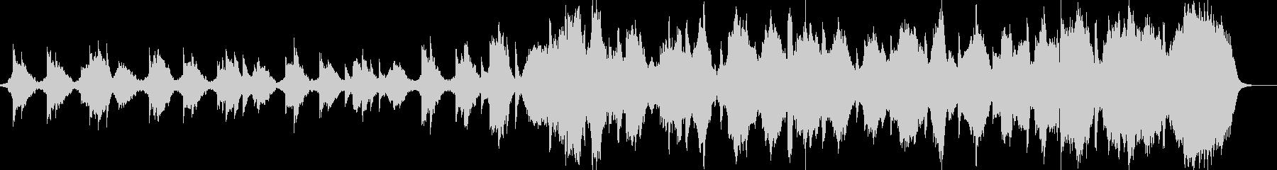 静かで神秘的な映像系BGMの未再生の波形