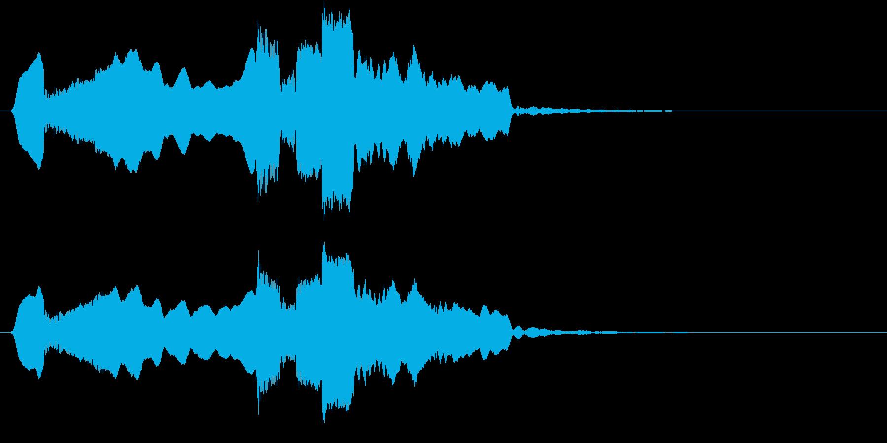 音侍SE「尺八フレーズ1」エニグマ音16の再生済みの波形