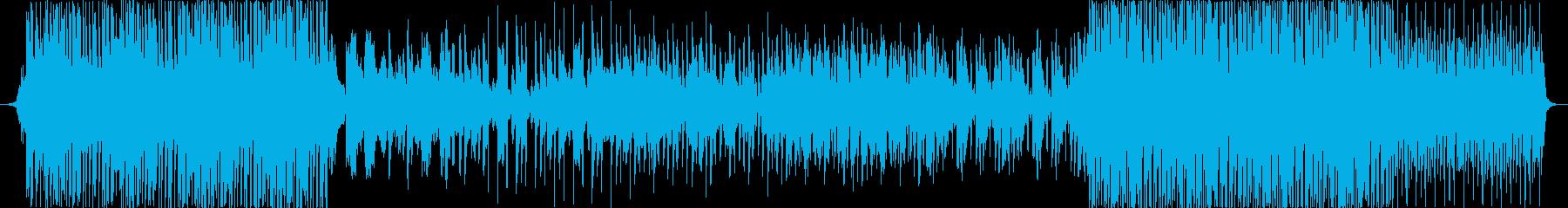 フルートと和楽器のトロピカルハウス風楽曲の再生済みの波形