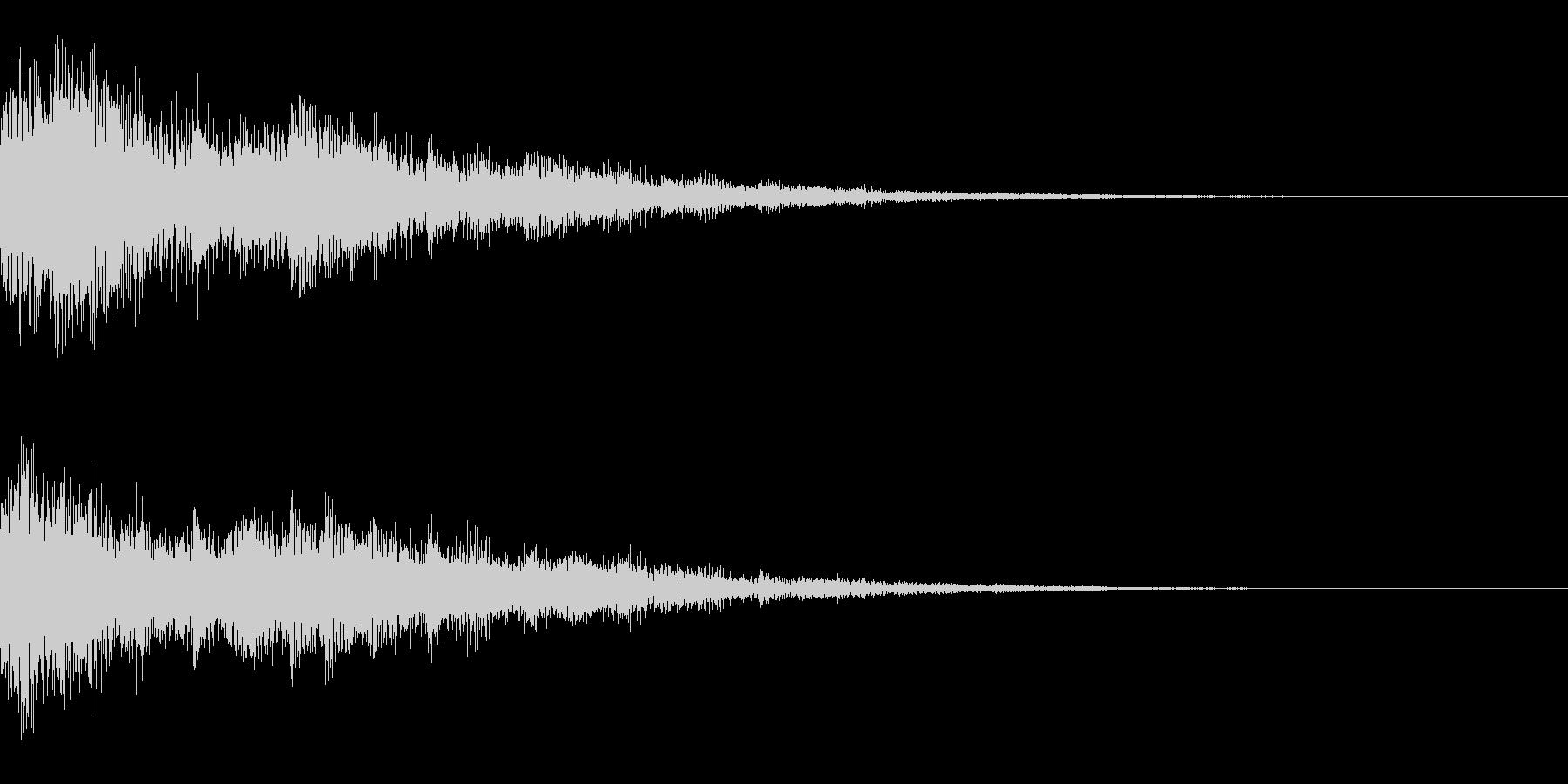 「決定」「選択」/システム効果音の未再生の波形