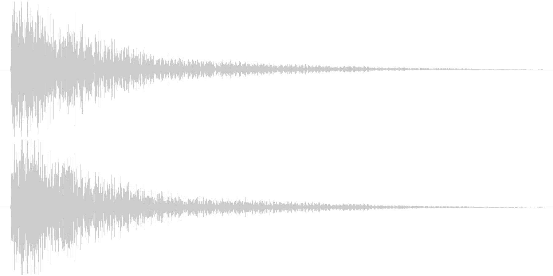 衝撃波、圧力波、爆発、インパクト音の未再生の波形