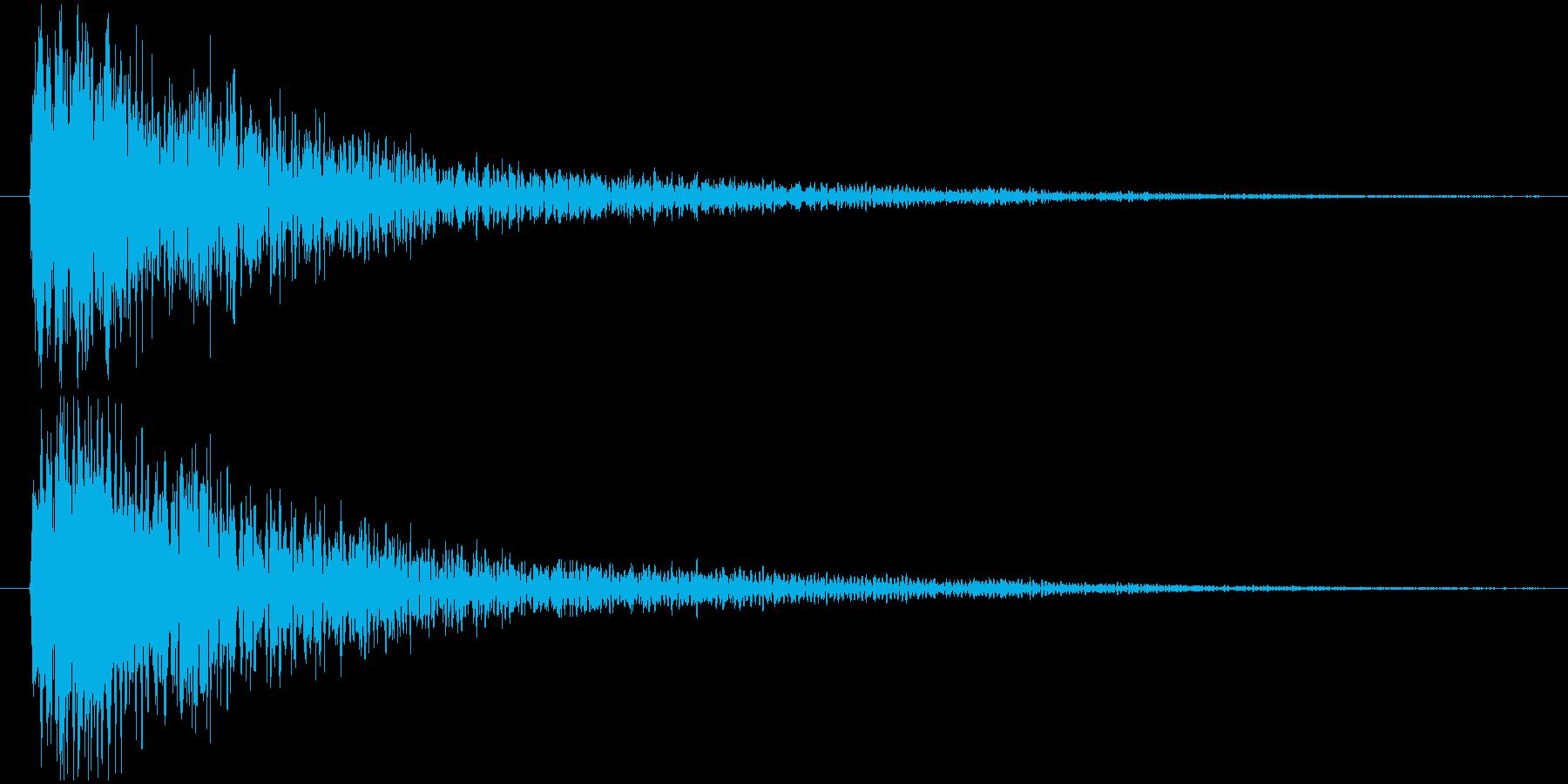 衝撃波、圧力波、爆発、インパクト音の再生済みの波形