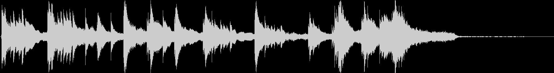 映画用ピアノ、シーン導入(短いフレーズ)の未再生の波形