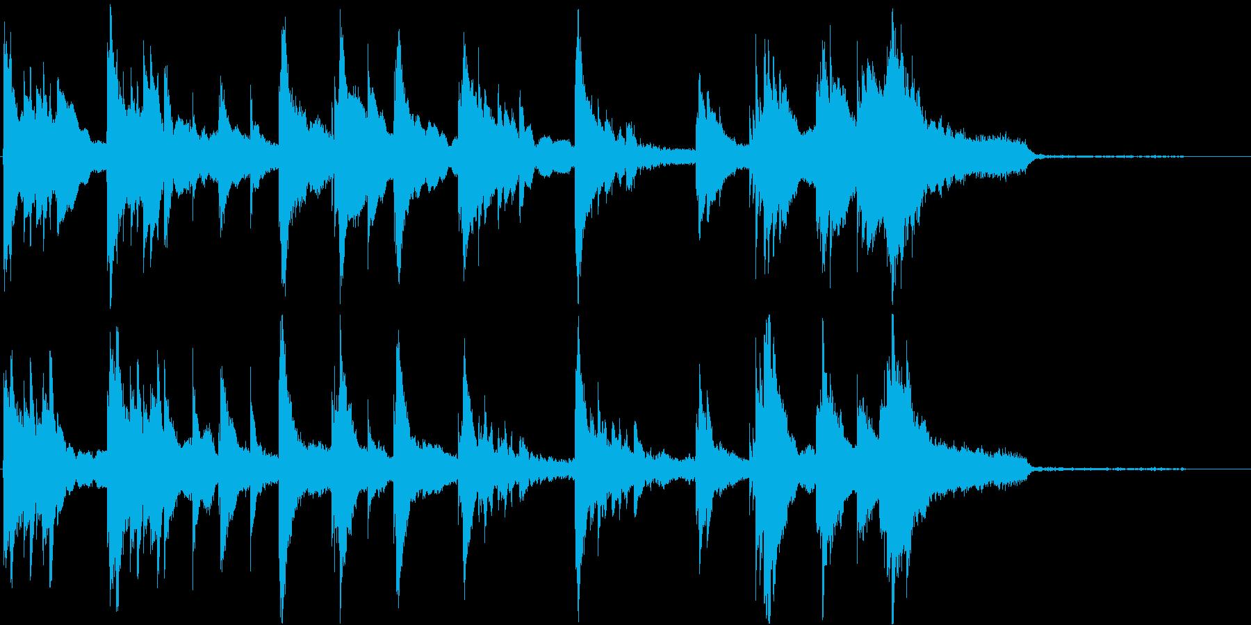 映画用ピアノ、シーン導入(短いフレーズ)の再生済みの波形