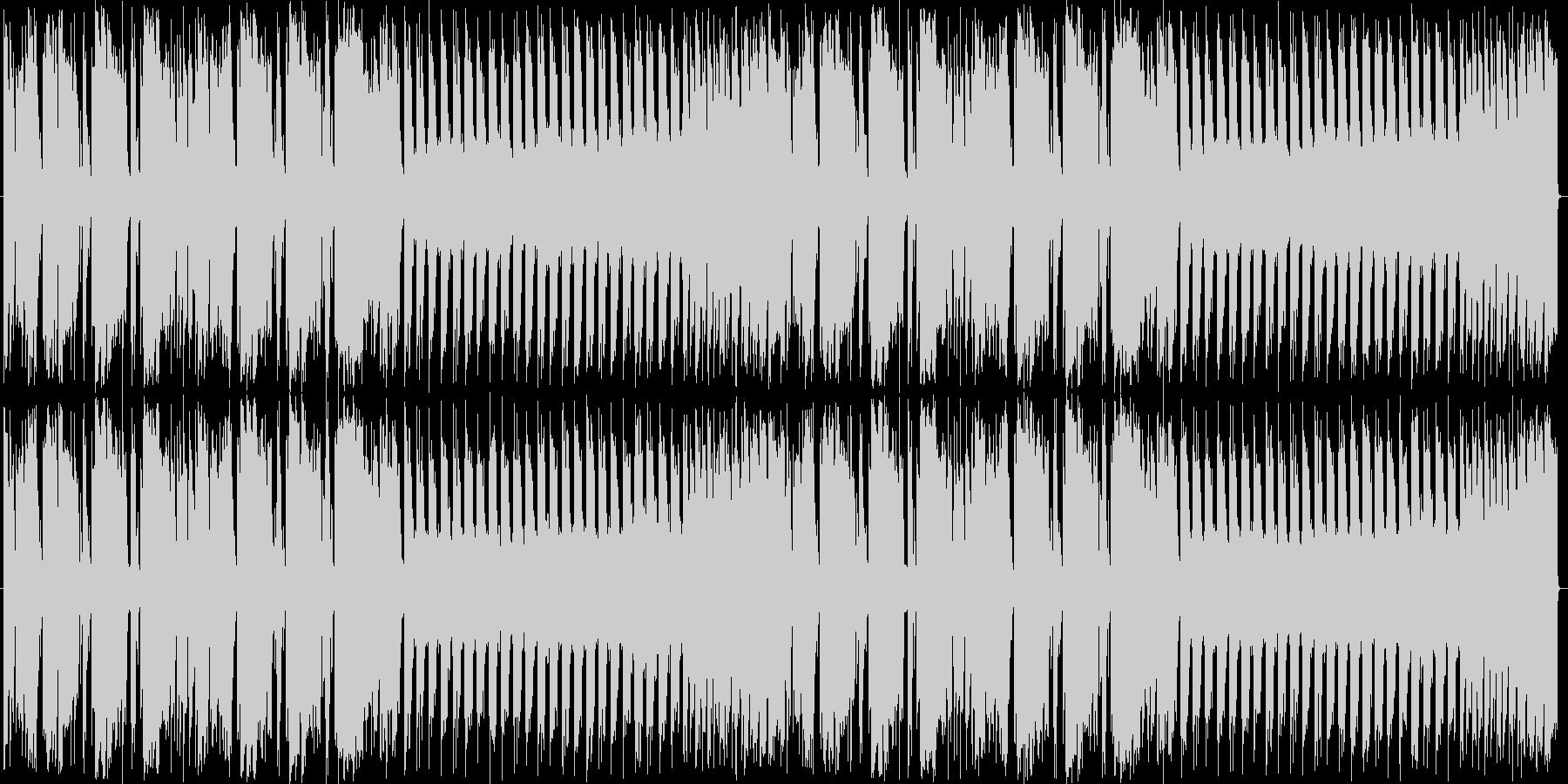 スラップと特徴的なシンセのループBGMの未再生の波形