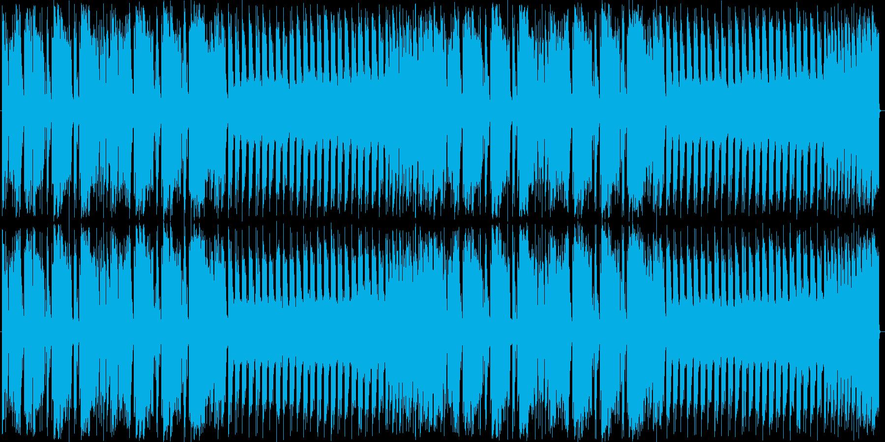 スラップと特徴的なシンセのループBGMの再生済みの波形