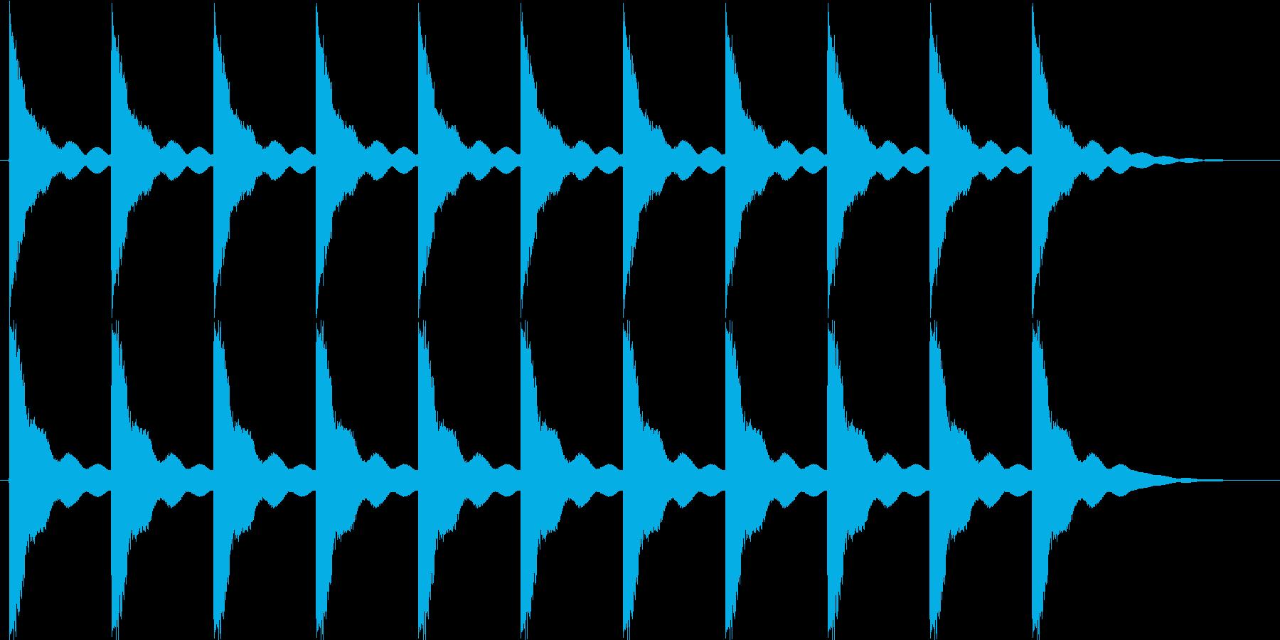教会の鐘 タイプAの再生済みの波形