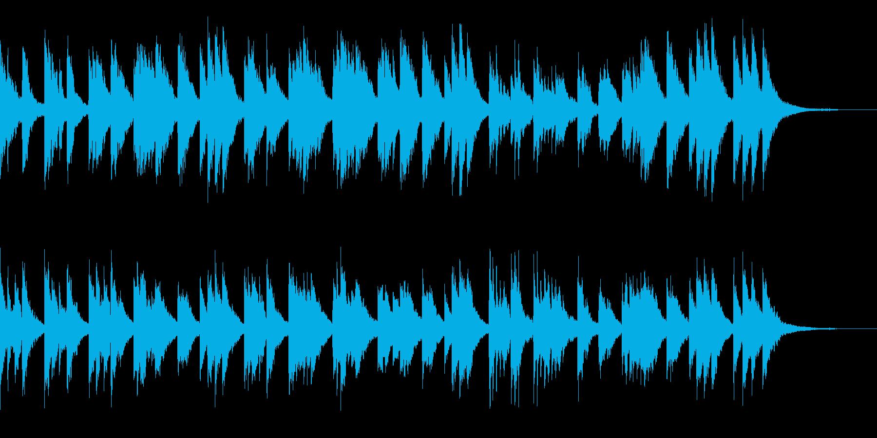 優しい旋律に癒やされるピアノ小品の再生済みの波形