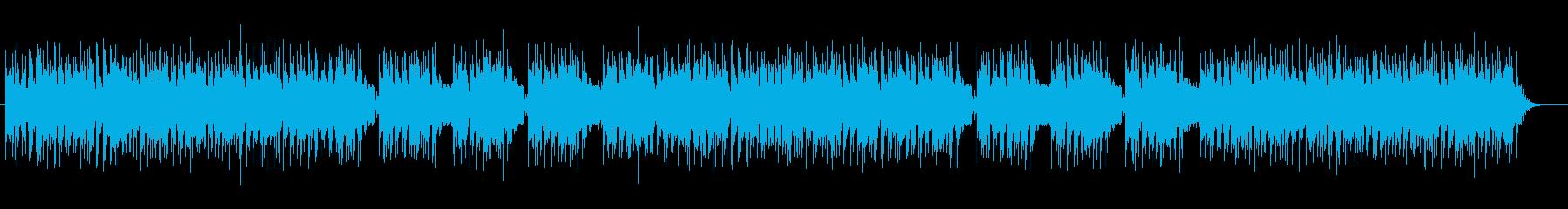 浮遊感のあるテクノの不思議なメロディーの再生済みの波形