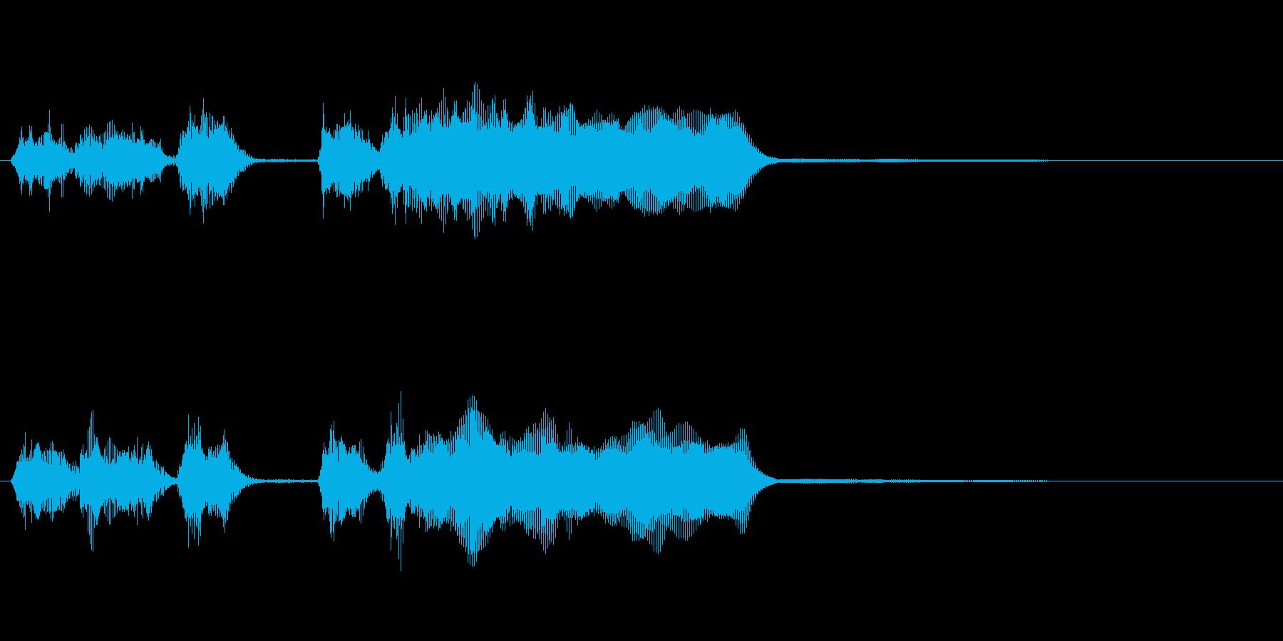 玩具系ファンファーレ-01の再生済みの波形