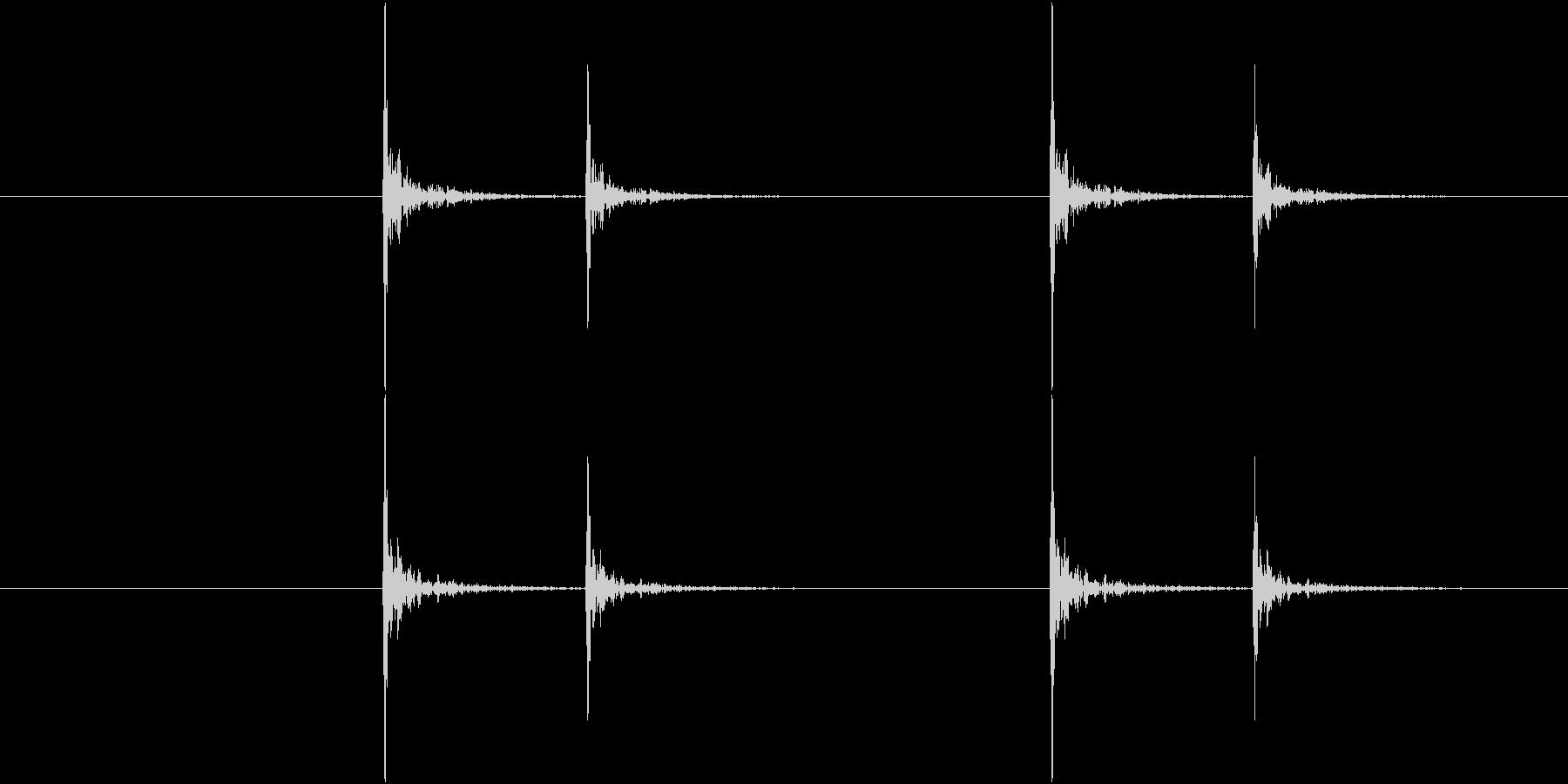 コンコンコンコン、ノック音(4回)の未再生の波形