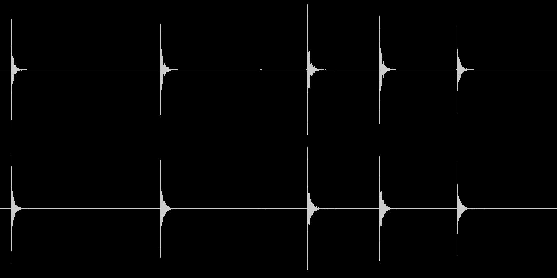 ドラムのスティック(カウント)の未再生の波形