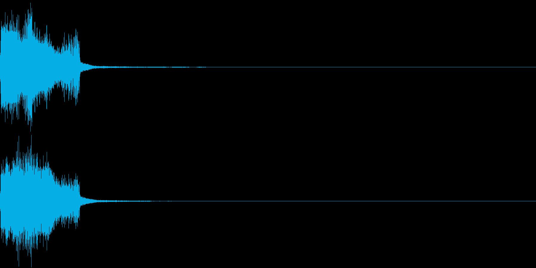クリック コイン 発見 決定 28の再生済みの波形