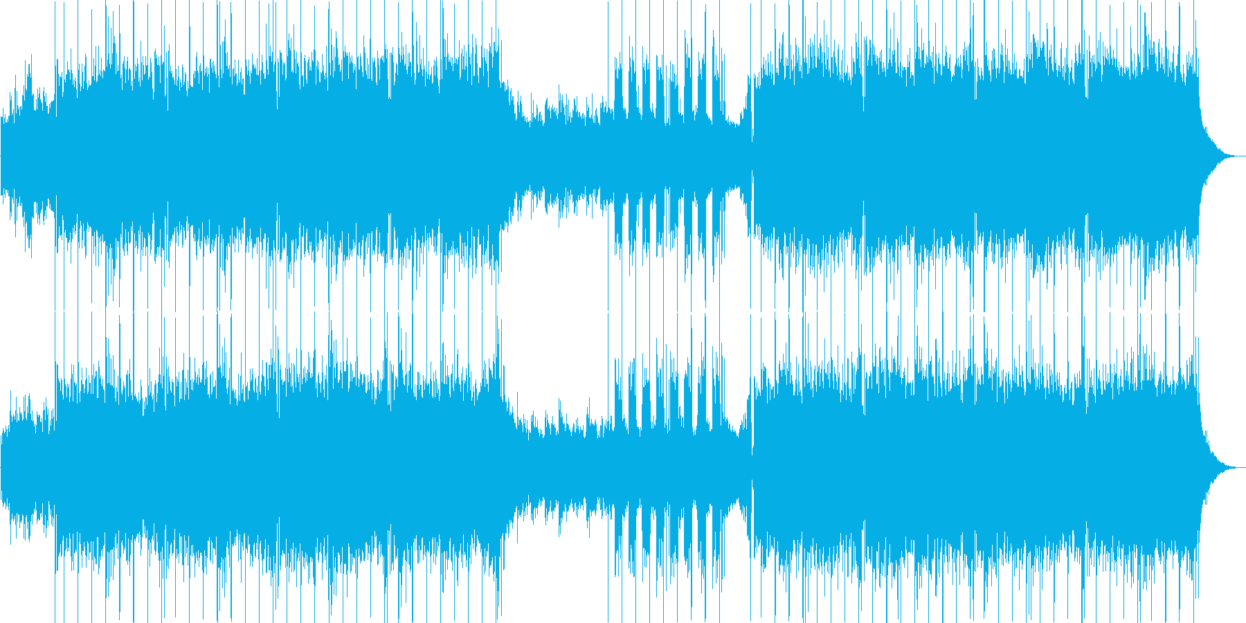浮遊感エレクトロニカの再生済みの波形