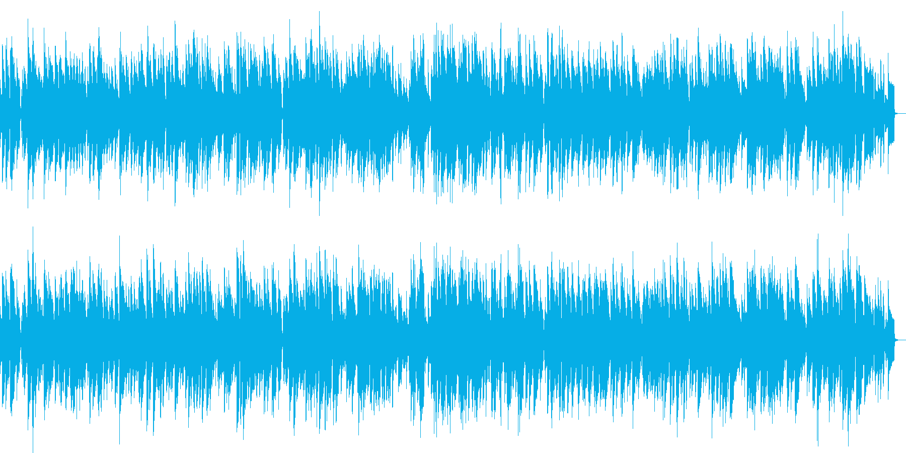 ピアノによるしっとりしたジャズの再生済みの波形