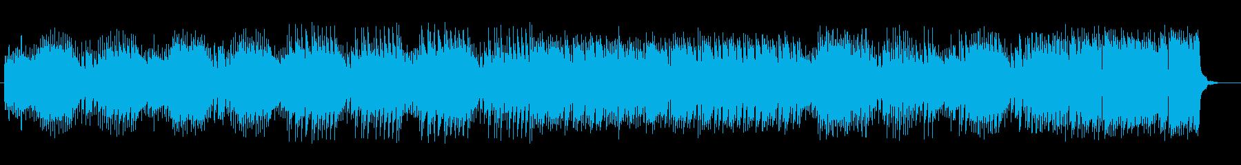 レトロ調のデジタルポップスの再生済みの波形