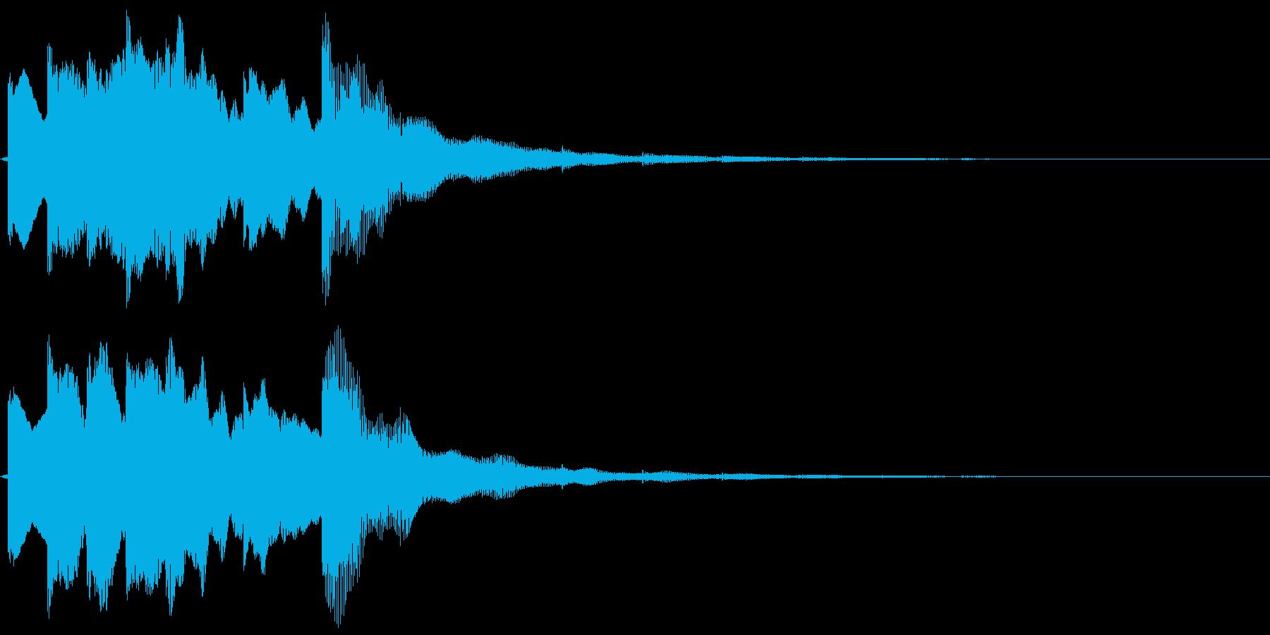 デジタルなトイ ピアノっぽいサウンドロゴの再生済みの波形