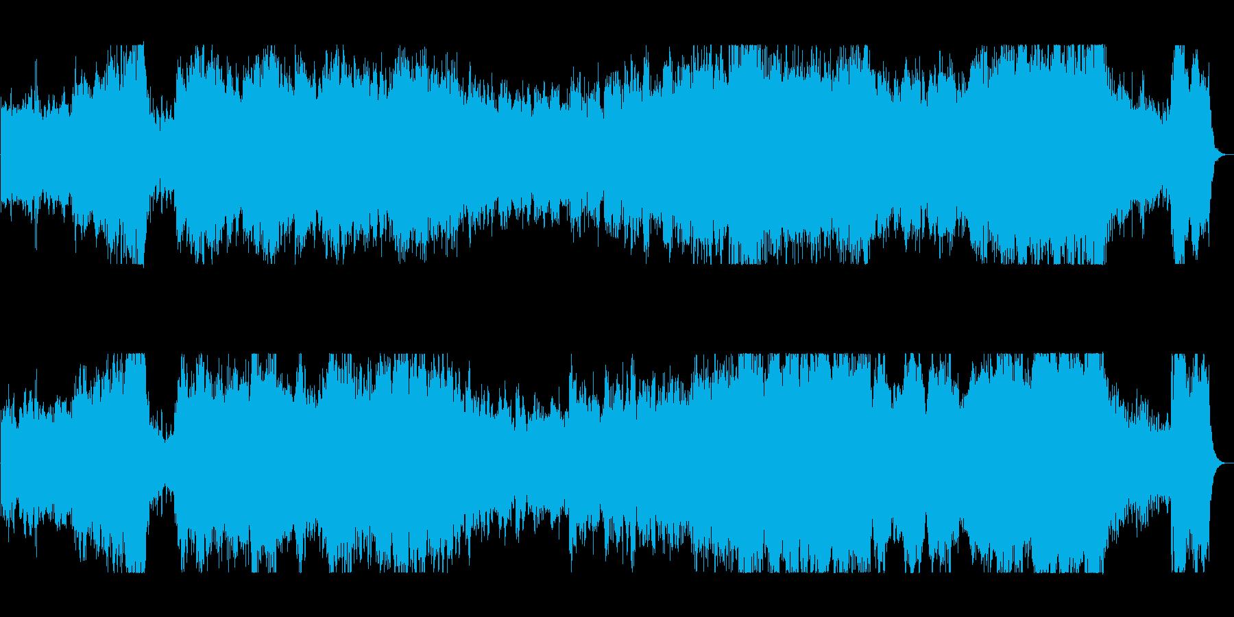 壮大で迫力のある管楽器シンセサウンドの再生済みの波形