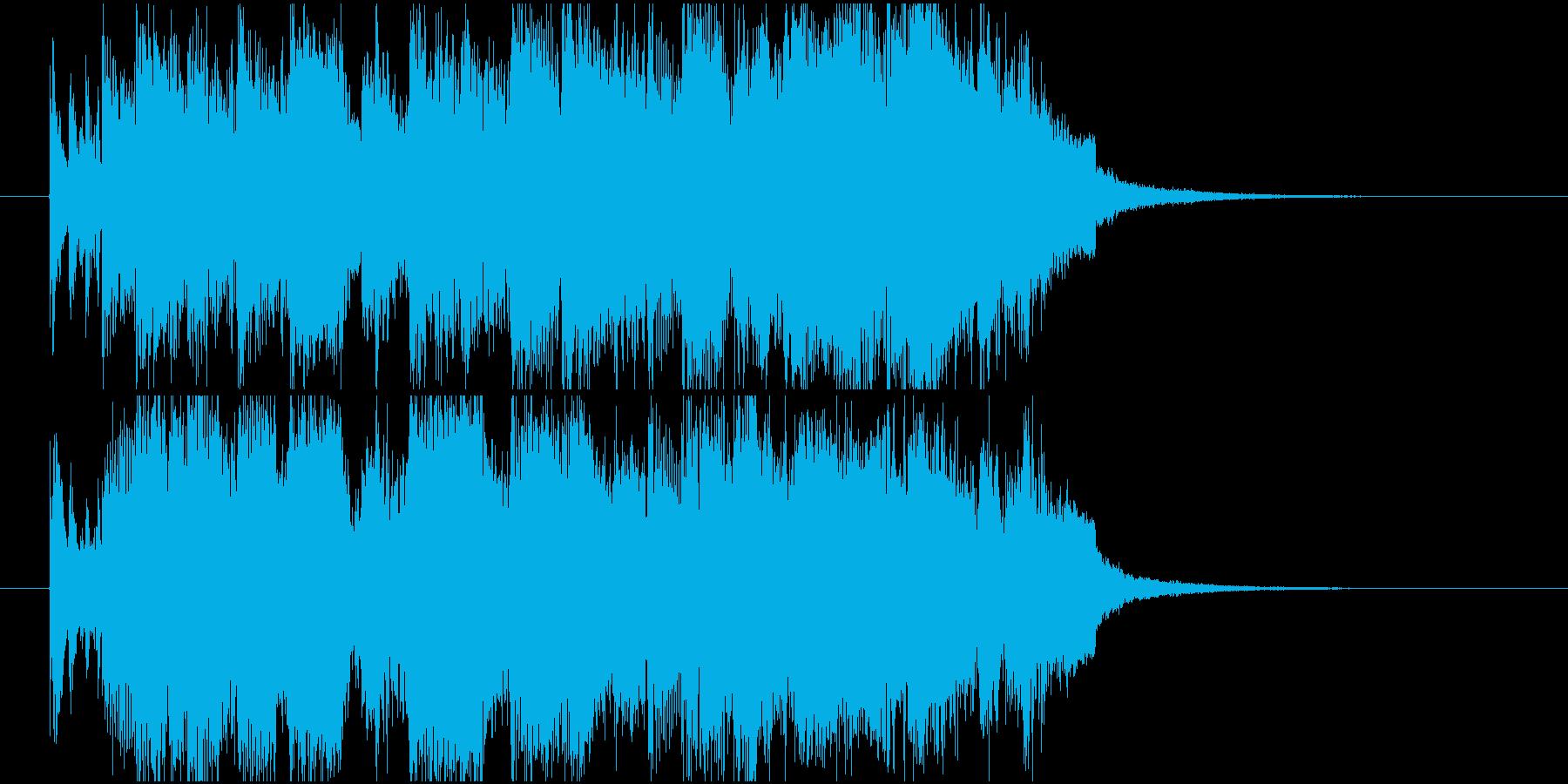 ジャズジングル、ピアノトリオ、クールの再生済みの波形