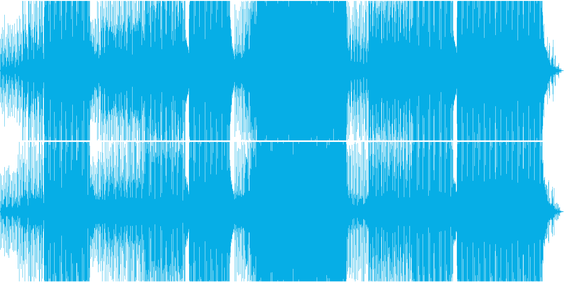 夏にぴったり涼しげトロピカル調のEDMの再生済みの波形